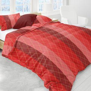 Luxe Flanel Dekbedovertrek 240x220cm Red golf