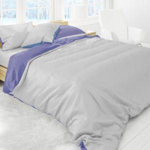 Luxe Flanel Dekbedovertrek Lits-Jumeaux 240x220cm Effen Grijs-Blauw