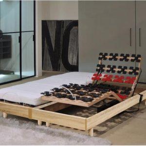 MURCIE Matrasenset + boxsprings 2 x 80 x 200 cm - Schuim - 14 cm - Zeer stevig - Eiken decor
