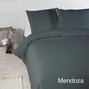 Papillon Deluxe+ - Mendoza Groen - Dekbedovertrek - Lits-jumeaux - 240x220/260 cm + 2 Kussenslopen 60 x 70 cm - Egyptische Percale Katoen