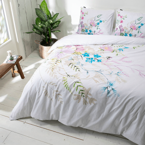 Presence Flower Sketch Lits-jumeaux (240 x 220 cm + 2 kussenslopen) Dekbedovertrek