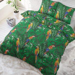 Sleeptime Elegance Botanic Parrot Lits-jumeaux (240 x 220 cm + 2 kussenslopen) Dekbedovertrek