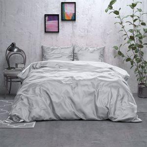 Sleeptime Elegance Double Face Beauty - Grijs/Wit Lits-jumeaux (240 x 220 cm + 2 kussenslopen) Dekbedovertrek