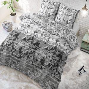 Sleeptime Elegance Leyla - Antraciet Lits-jumeaux (240 x 220 cm + 2 kussenslopen) Dekbedovertrek
