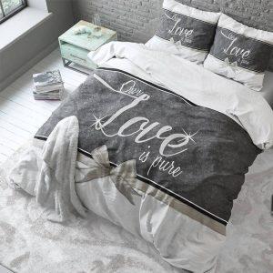 Sleeptime Elegance Pure Love - Wit Lits-jumeaux (240 x 220 cm + 2 kussenslopen) Dekbedovertrek
