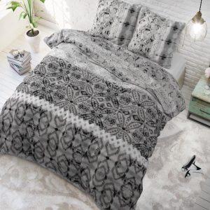 Sleeptime Elegance Retro Vivien - Grijs Lits-jumeaux (240 x 220 cm + 2 kussenslopen) Dekbedovertrek