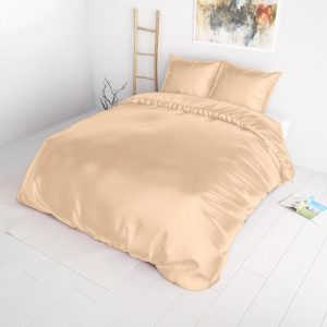 Sleeptime Elegance Satijn Geweven Uni - Taupe Lits-jumeaux (240 x 220 cm + 2 kussenslopen) Dekbedovertrek