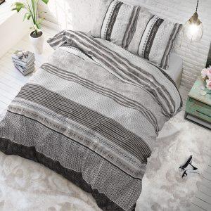 Sleeptime Elegance Your Stay - Grijs Lits-jumeaux (240 x 220 cm + 2 kussenslopen) Dekbedovertrek
