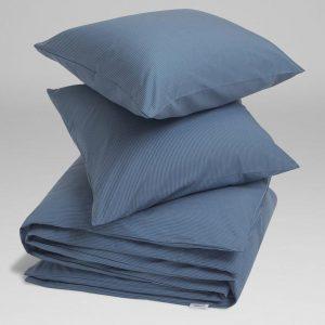 Yumeko Overtrekset katoen Tencel™ blauw met streepjes 240x220 + 2/60x70