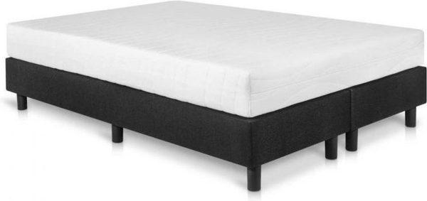 Bed4less Boxspring 160 x 220 cm - Met Matras - Tweepersoons - Zwart