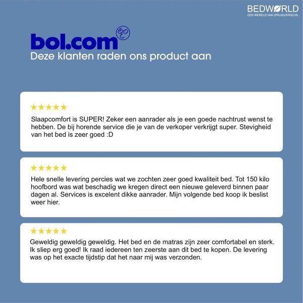Bedworld Boxspring 180x210 cm met Matras - Luxe Hoofdbord - Gestoffeerd - Pocketvering Matras