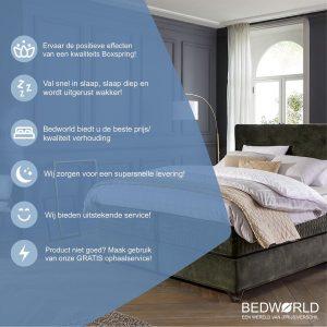 Bedworld Boxspring met Opbergruimte 180x200 cm - Bed met Opbergruimte - Met Micropocket Koudschuim Matras