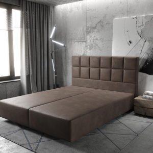 Boxspring-frame Dream-Fine Imitatieleer donkerbruin 160x200