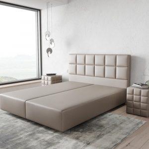 Boxspring-frame Dream-Fine kunstleder taupe 160x200