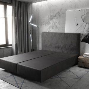 Boxspring frame Dream-Well Antraciet 160x200 cm Imitatieleer Beddengoed