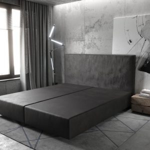 Boxspring frame Dream-Well Antraciet 180x200 cm Imitatieleer Beddengoed