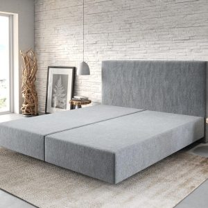 Boxspring frame Dream-Well Antraciet 180x200 cm Mikrofaser Beddengoed