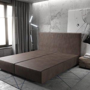 Boxspring frame Dream-Well Donkerbruin 180x200 cm Imitatieleer Beddengoed