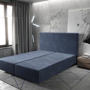 Boxspring frame Dream-Well Marineblauw 160x200 cm Mikrofaser Beddengoed