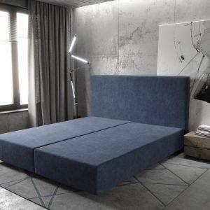 Boxspring frame Dream-Well Marineblauw 180x200 cm Mikrofaser Beddengoed