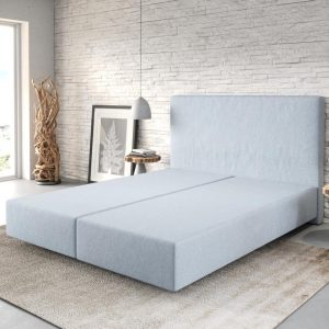 Boxspring frame Dream-Well Pastelblauw 160x200 cm vlak geweven Beddengoed