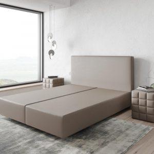 Boxspring frame Dream-Well Taupe 160x200 cm Kunstleder Beddengoed
