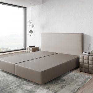 Boxspring frame Dream-Well Taupe 180x200 cm Kunstleder Beddengoed