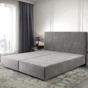 Boxspring frame Dream-Well Taupe 180x200 cm Mikrofaser Beddengoed