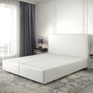 Boxspring frame Dream-Well Wit 160x200 cm Kunstleder Beddengoed