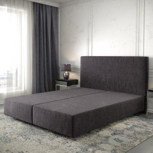 Boxspring frame Dream-Well Zwart 160x200 cm Mikrofaser Beddengoed