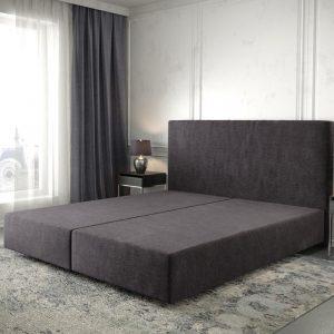 Boxspring frame Dream-Well Zwart 180x200 cm Mikrofaser Beddengoed