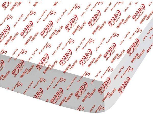 Coca Cola Lines - Hoeslaken - Tweepersoons - 140 x 200 cm - Wit