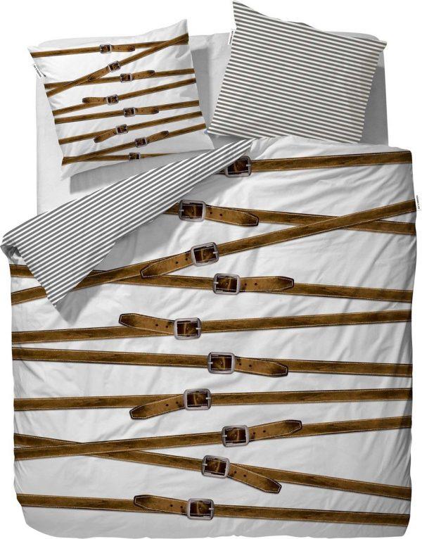 Covers & Co Buckle Up! - dekbedovertrek - eenpersoons - 140 x 220 - Wit