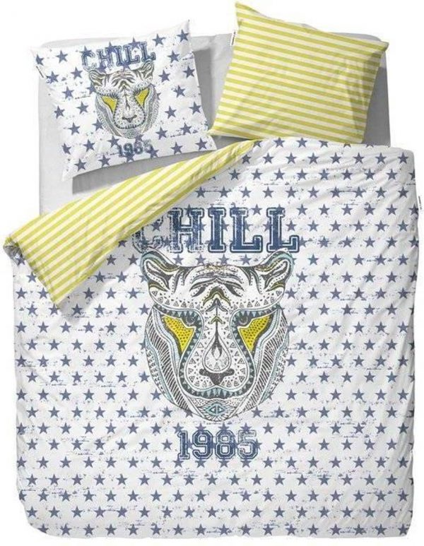 Covers & Co Seth - dekbedovertrek - eenpersoons - 140 x 220 - Wit