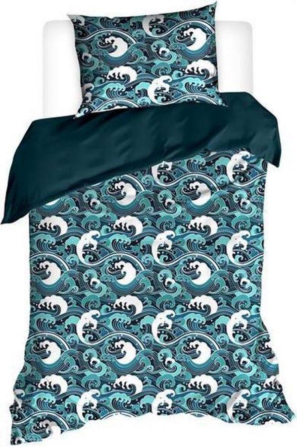 De Witte Lietaer Dekbedovertrek Beaufort 140 X 220 Cm Turquoise