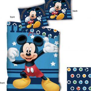 Disney dekbedovertrek Mickey Mouse junior 140 X 200 cm katoen blauw