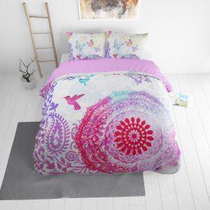 DreamHouse Bedding Peach Mandela Lits-jumeaux (240 x 220 cm + 2 kussenslopen)