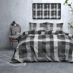 DreamHouse Bedding Steef - Flanel - Antraciet 1-persoons (140 x 200/220 cm + 1 kussensloop)