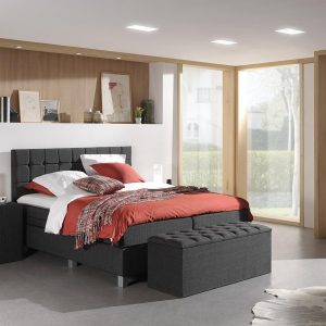 Dreamhouse Istanbul Comfort Boxspring - Boxspring - Pocketvering - 160x200 - Antraciet