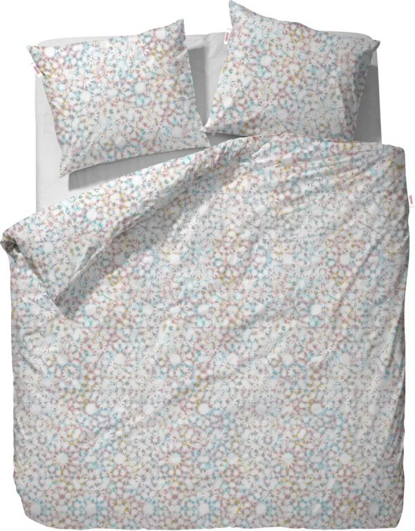 ESPRIT Caleido Flower - dekbedovertrek - eenpersoons - 140 x 220 - Multi