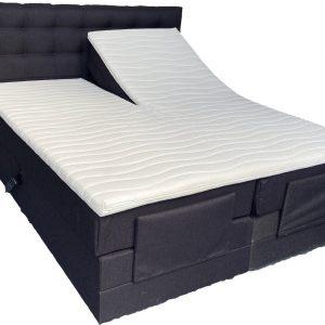 Elektrische boxspring A250 - 180x200 - Incl. pocketvering matrassen en topper - Antraciet