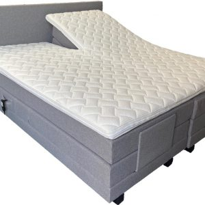 Elektrische boxspring A840 - 140x200 - Incl. pocketvering matrassen en topper - Grijs