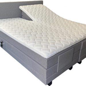 Elektrische boxspring A840 - 160x200 - Incl. pocketvering matrassen en topper - Grijs
