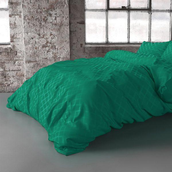 Fresh & Co Oakland - Groen 1-persoons (140 x 200/220 cm + 1 kussensloop)