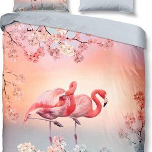 Good Morning Dekbedovertrek 140 X 220 Cm Katoen Grijs/roze