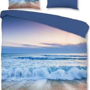 Good Morning Dekbedovertrek Blue Sea 240x220 Cm Katoen Blauw