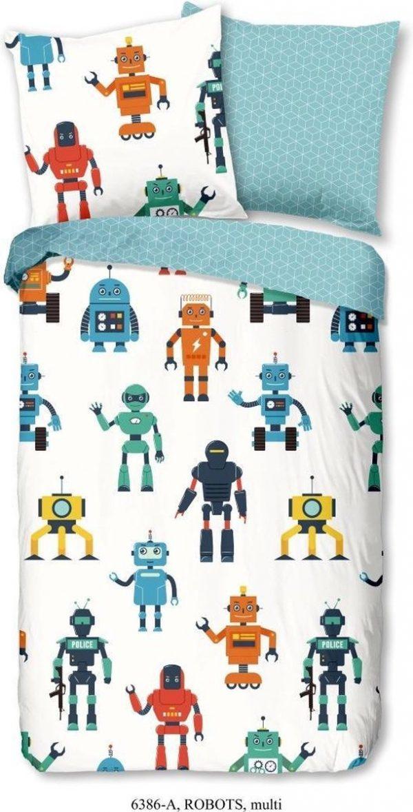 Good Morning Dekbedovertrek Robots Junior 200 X 140 Cm Katoen