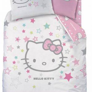 Hello Kitty Galaxy - Dekbedovertrek - Eenpersoons - 140 x 200 cm - Roze