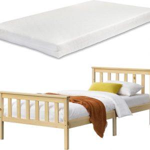 Houten bed Breda met matras 90x200 cm houtkleurig
