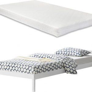 Houten bed Forest grenen met matras 90x200 cm wit